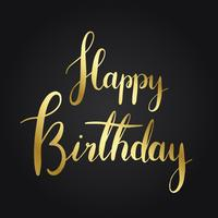 Happy birthday typography style vector