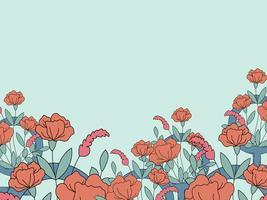 Vector de papel tapiz feminista floral y colorido