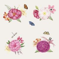 Fioritura di fiori rosa