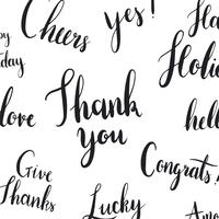 Thank you typography style vector set