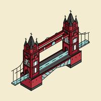 Illustration av London Bridge i Storbritannien
