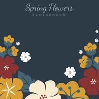 Japanese flowers frame