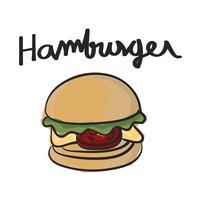 De stijl van de illustratietekening van voedsel