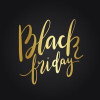 Black Friday-Typografieartvektor