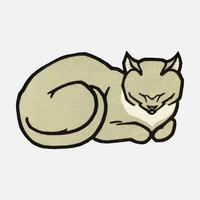 Sleeping Cat (1918) by Julie de Graag (1877-1924). Original from the Rijks Museum. Digitally enhanced by rawpixel.