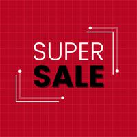 Super sale promotion announcement board vector