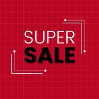 Vector de tablero de anuncio de promoción de venta Super