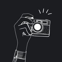 Vektor av vintage kamera