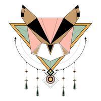 Dreamcatcher estilo vectores en el fondo