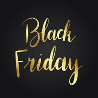 Tipografia dorada del viernes negro