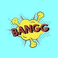 Ilustración de estilo cómico de la palabra bang