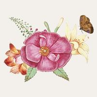 Wild rose in vintage style