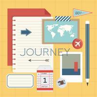 Model van reisreis die vectorillustratie plannen