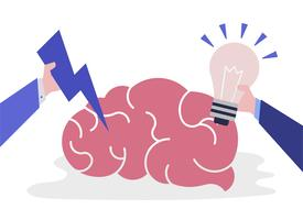 Creative idea and thinking brain icon