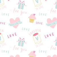 Love expressions seamless white background vector