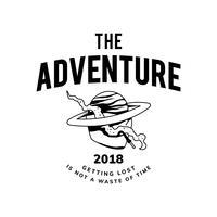 Weinlese der Abenteuertext-Designvektor