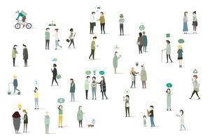Illustrazione di avatar umano con ambiente