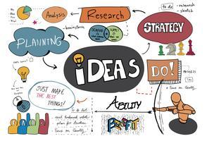 Vetor de esboço de idéias