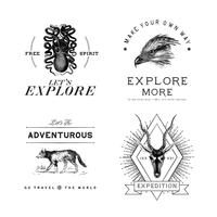 Collection de vecteurs de conception de logo d'aventure