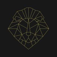 Ilustração linear da cabeça de um leão