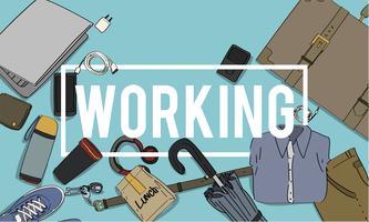 Illustratie van werkverpakking