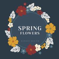 Confine di fiori colorati