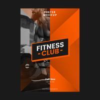 Fitnessclub promotie poster vector