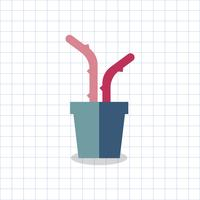 Illustration of a colored cactus in a pot