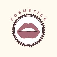 Cosmetica en make-up pictogram vector