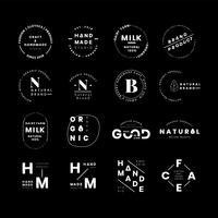 Logo de la marca insignias conjunto de vectores