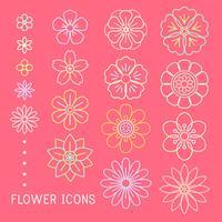 Vector de hermosas flores