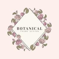 Botanisk blommig mockup illustration
