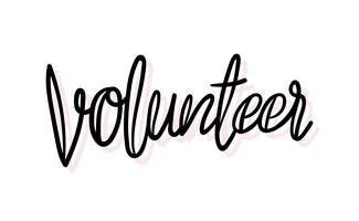 Freiwillige Typografie-Illustrationsart der Handschrift