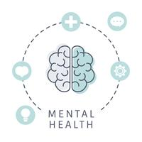 Mental health understanding the brain vector