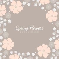 Cornice di fiori pastello giapponese