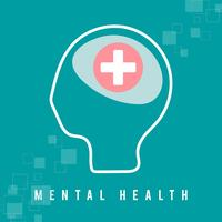 Mental health and a healthy mind vector