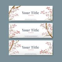 Floral Titel Label Design