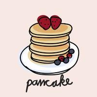 De stijl van de illustratietekening van pannekoek