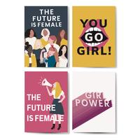 Verzameling van feministische bericht poster vectoren