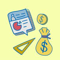 Doodle collection de plan financier