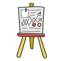 Doodle de placa de análise de dados de negócios