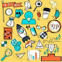 Teknik ikoner doodle stil