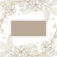 Blank floral invite