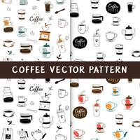 Coffeehouse and cafe seamless background vector