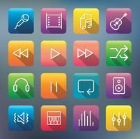 Icons und Symbole gesetzt