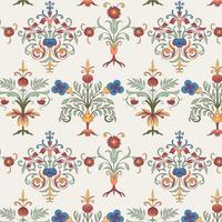 Papel de parede padrão vintage floreio