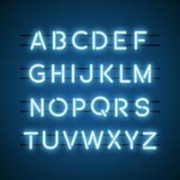 Alphabets in neon light