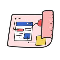 Doodle of website template layout