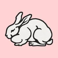 Rabbit (1923-1924) by Julie de Graag (1877-1924). Original from the Rijks Museum. Digitally enhanced by rawpixel.