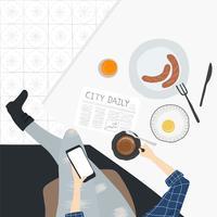 Illustration des täglichen Lebens der Menschen